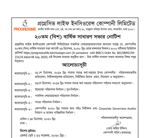 20th Annual General Meeting Notice  Copy